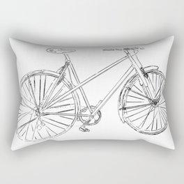 Bike Illustration Rectangular Pillow