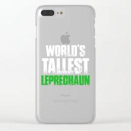 World's Tallest Leprechaun Gnomes St Patricks Day Clear iPhone Case