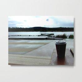 Coffee by the Lake Metal Print