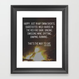 Dharma Bum Framed Art Print