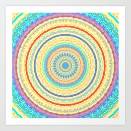 Spring Color Mandala Design Art Print