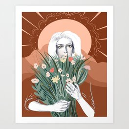 Evening bouquet  Art Print
