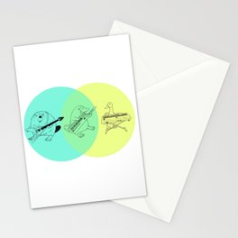 Keytar Platypus Venn Diagram Stationery Cards
