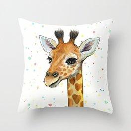 Baby Giraffe Throw Pillow