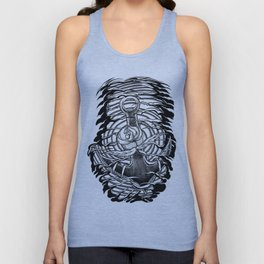 Rose and anchor Unisex Tank Top