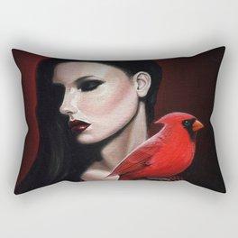 Dame Kardinal trois Rectangular Pillow