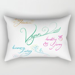 Vegan & happy lifestyle Rectangular Pillow