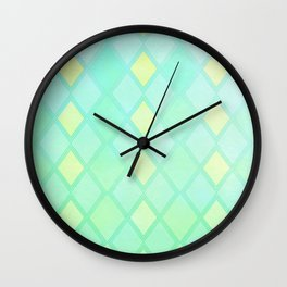 Checkered Mint Wall Clock