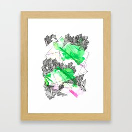 The grass is greener wherever you are Framed Art Print