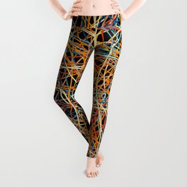 Colored Line Chaos #15 Leggings