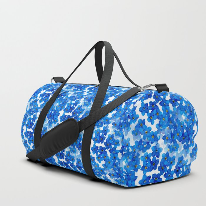 Forget-me-not Flowers White Background #decor #society6 #buyart Duffle Bag