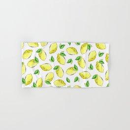 Lemon Watercolor Pattern Hand & Bath Towel