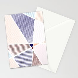 Striped in colors Stationery Cards
