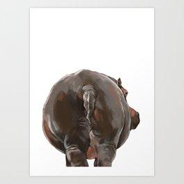 Hippo Butt Art Print