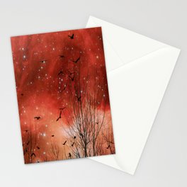 Red Night Stationery Cards