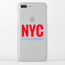 NYC Sixth Avenue Clear iPhone Case