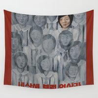 korea Wall Tapestries featuring Starvation in North Korea by kaliwallace