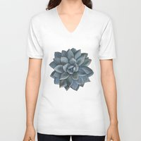 succulent V-neck T-shirts featuring Succulent by Antonina Sotnikova