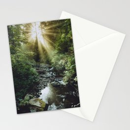 Morning Rays at Oswald West State Park, Oregon Stationery Cards