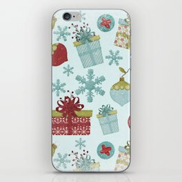 Merry Christmas-Festive gift and Christmas Bowls X-Mas Pattern iPhone Skin