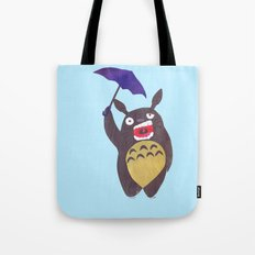 Totoro is tired Collage Tote Bag