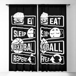 Eat Sleep Basketball Repeat - B-Ball Team Dunk Blackout Curtain