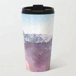 Glitched Mountains Metal Travel Mug