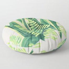 Snake and Fern Floor Pillow