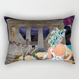 Watching the Ruins Rectangular Pillow