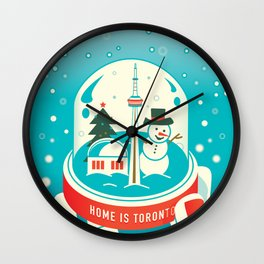 Frosty Dancing in Toronto Art Illustration Wall Clock