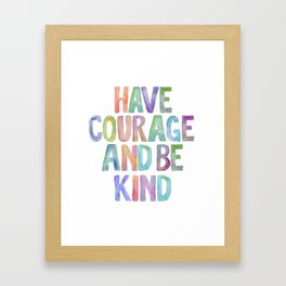Typography Quote, Motivational Poster, Wall Decor, digital download, Nursery Decor,Have Courage Framed Art Print