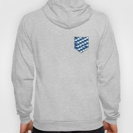 Whale in Blue Ocean with a Love Heart Hoody