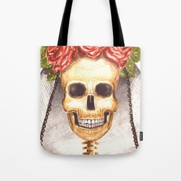 Watercolor Catrina Tote Bag