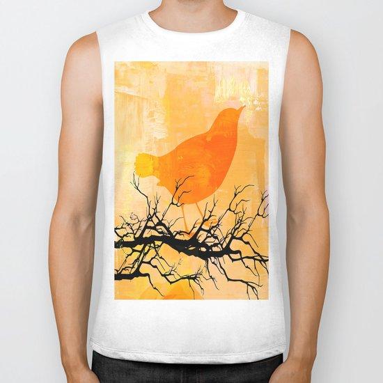 Orange Bird  Biker Tank