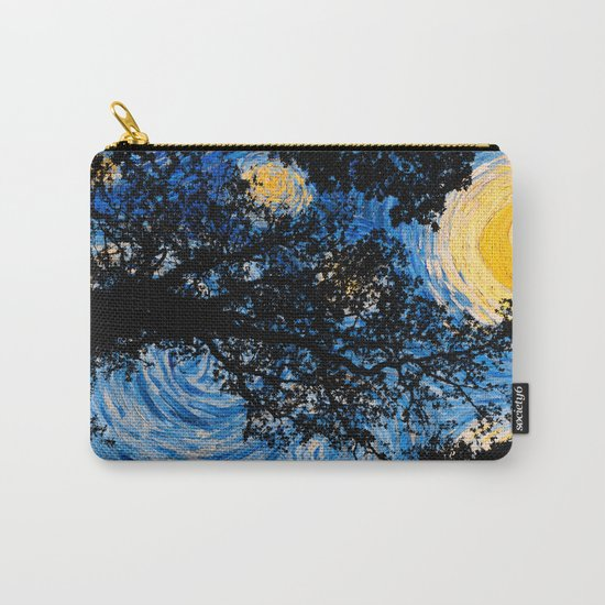Starry Forest Night Carry-All Pouch