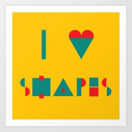 I heart Shapes Art Print