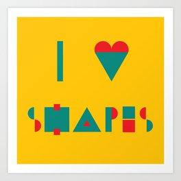 I heart Shapes Art Print