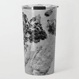 Bedrock Seascape Grayscale #7 Travel Mug