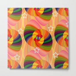 Abstract Swirls and Twirls Metal Print