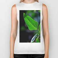leaf Biker Tanks featuring leaf by  Agostino Lo Coco