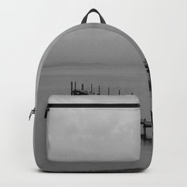 Misty Morning At The Lake Backpack