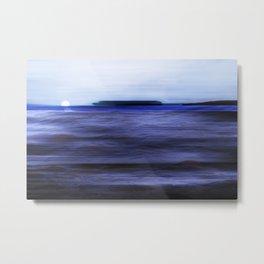 Distant Islands in the moonlight Seascape Metal Print
