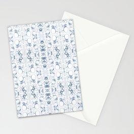 Arabidopsis thaliana (thale cress) root vacuole microscopy pattern blue Stationery Cards