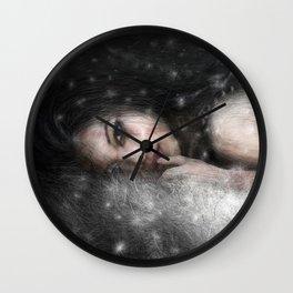 She Waits Wall Clock