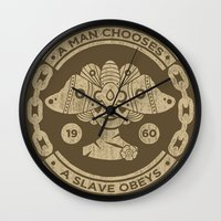 bioshock infinite Wall Clocks featuring Bioshock by Cameron Latham