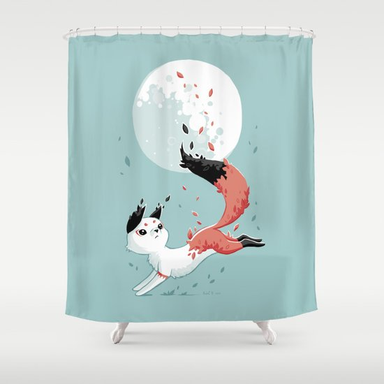 Shedding Shower Curtain