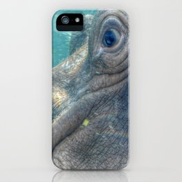 Hippopotamus Smiling Underwater iPhone Case