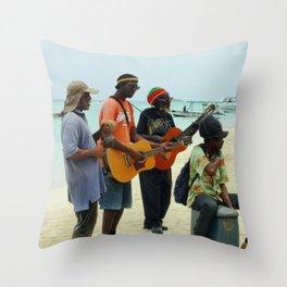 Jamaican Vibes Throw Pillow