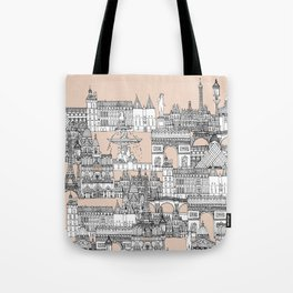 Paris toile sugar pink Tote Bag
