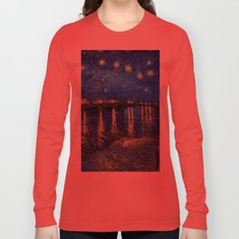 Starry Night Over the Rhone by Vincent van Gogh Long Sleeve T-shirt